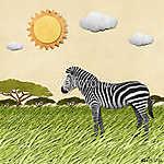 Zebra újrahasznosított papír háttere (id: 6244) falikép keretezve