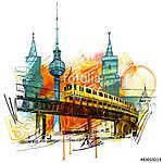 Berlin stílus (id: 10345) vászonkép óra