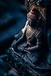 Buddha szobor, India (id: 16845) vászonkép óra