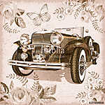 Vintage car postcard.	 (id: 19145)