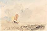 William Turner: Hullámzó tenger halászhajóval (id: 20345) vászonkép óra
