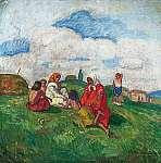 Iványi-Grünwald Béla: Cigányok a mezőn Nagybánya (id: 20545) poszter