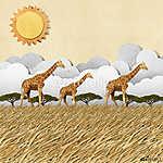 Zsiráf szafari verőfényes napsütésben (id: 6245) vászonkép