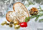 Karácsonyi dekoráció (id: 7145) többrészes vászonkép