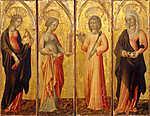 Giovanni di Paolo: Női szentek (Katalin, Borbála, Ágota, Margit) (id: 12046)