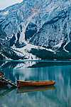 Totális nyugalom, Lago di Braies, Olaszország (id: 16946) tapéta