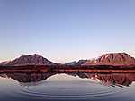 Idillikus tópart Izlandon (id: 19546) vászonkép óra