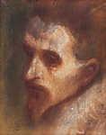 Mednyánszky László: Gondolkodó portré (id: 19946) falikép keretezve