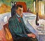 Edvard Munch: Önarckép egy üveg bor mellett (id: 3646)