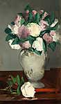 Edouard Manet: Pünkösdi rózsák vázában (id: 9346) vászonkép
