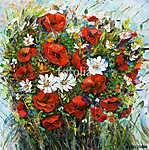 Flower bouquet (id: 13347) falikép keretezve