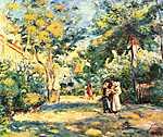 Paul Cézanne: Emberek a kertben (id: 1447)