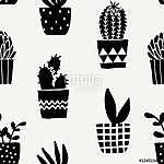 Succulent Plant Pots Seamless Pattern (id: 15047) vászonkép