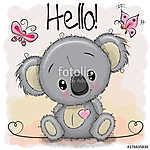 Greeting card Cute Cartoon Koala (id: 18947) falikép keretezve