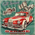 Vintage garage retro poster (id: 19147)