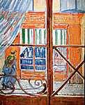 Csontváry Kosztka Tivadar: Hentesüzlet az ablakból nézve (id: 347) vászonkép