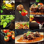 Élelmiszer-kollázs - húslabdák (id: 4747) poszter