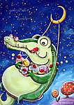 Greedy Crocodile (id: 5347) vászonkép