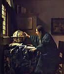 Jan Vermeer: Az asztronómus (id: 11748) vászonkép óra