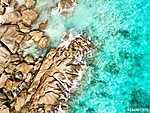 Wellen treffen auf Granitsteine (id: 16448) vászonkép