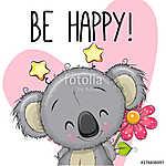Be Happy Greeting card with Koala (id: 18948) tapéta