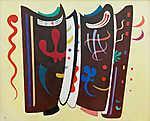Vaszilij Kandinszkij: Brun Supplémenté (id: 19448) vászonkép óra