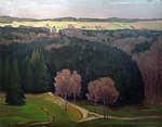 Max Liebermann: Vidéki táj (színverzió 1) (id: 19648) poszter