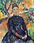 Paul Cézanne: Portré Cézanne asszonyságról az üvegházban (id: 448) vászonkép óra