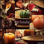 Őszi vacsora kollázs (id: 4748) falikép keretezve