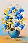 Vincent Van Gogh: nyári virágok csokor, csendéletes olajfestmény (id: 4848) poszter