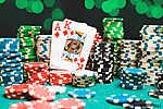 Póker zsetonok és kártyák (id: 6048) többrészes vászonkép
