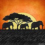 Elefánt az újrahasznosított papír hátteréből (id: 6248) poszter