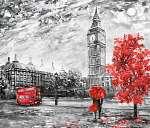 olajfestmény vászonra, utcai kilátás londonra. Alkotás. Big Ben. (id: 10249)
