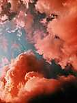 Rózsaszín felhők (id: 17549) vászonkép óra