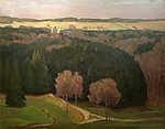 Max Liebermann: Vidéki táj (id: 19649) falikép keretezve