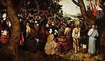 Pieter Bruegel the Elder:  Keresztelő Szent János prédikációja (id: 19749) vászonkép