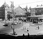 Nyugati pályaudvar és a Nyugati tér 1953 (id: 22449) vászonkép