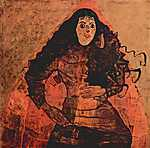Egon Schiele: Trude Engel portréja (id: 2449) vászonkép óra