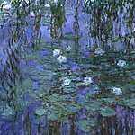 Henri de Toulouse Lautrec: Kék tavirózsák (1918 körül) (id: 2949) tapéta