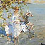 Gustav Klimt: Fürdőzők (id: 3849) tapéta