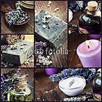 Levendula hógolyó kollázs (id: 4749) tapéta