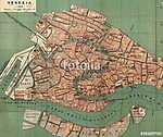 Velencei régi térkép (id: 10050)