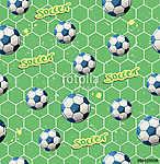 zökkenőmentes futballmintázat (id: 11150) falikép keretezve