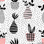 Vases and Pots Seamless Pattern (id: 15050)