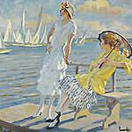 Claude Monet: Nyári regatta (id: 3850) vászonkép