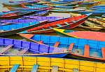 Részlet a régi színes vitorlás hajók a tóban (id: 5050) vászonkép óra