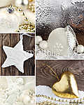 Karácsonyi dekoráció (id: 7150) falikép keretezve