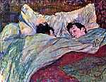 Henri de Toulouse Lautrec: Alvó pár (id: 1151) falikép keretezve