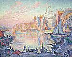 Paul Signac: Saint-Tropez kikötője (id: 12151) falikép keretezve