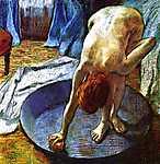 Edgar Degas: Fürdőző nő (id: 1551) falikép keretezve